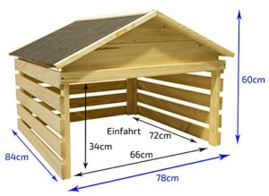 Outdoor Holz-Garage