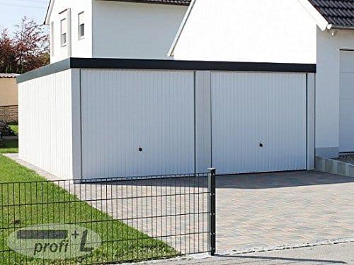profi+L Doppelgarage Fertiggarage ca. 5,8m x 6m profiliert verputzt Hörmann Tor